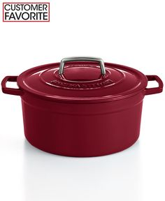 Martha Stewart Collection Collector's Enameled Cast Iron 6 Qt. Round Casserole, Only at Macy's - Cookware - Kitchen - Macy's