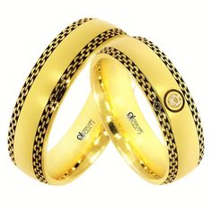 Verighete ATCOM Lux Vaeri aur galben Couple Rings, Bangles, Bracelets, Band Rings, Rings For Men, Wedding Rings, Engagement Rings, Texture, Weddings