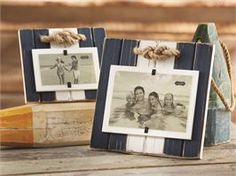 Mud Pie, Mudpie, Small Distressed Wooden Frame