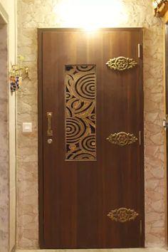 Residential project - nri complex, navi mumbai: doors by dezinebox Wooden Front Door Design, Main Entrance Door Design, Door Gate Design, Entrance Doors, House Entrance, Pooja Room Door Design, Ceiling Design Living Room, Door Design Interior, Flush Door Design