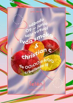 me x fetén club // psychotropical Graphic Design Posters, Graphic Design Typography, Graphic Design Inspiration, Branding Design, Event Poster Design, Logo Design, Poster Layout, Print Layout, Name Card Design