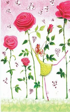 Mila Marquis : Femme et les Roses - Cartes d'Art/Mila Marquis - Lulu Shop