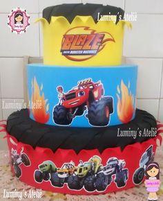 Blaze And The Monster Machines Cake, Blaze Monster Machine, 4th Birthday Parties, Birthday Celebration, Blaze Birthday Cake, Blaze Cakes, Cakes For Boys, Toy Chest, Bolo Fake