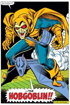 The first appearance of the Hobgoblin (from Amazing Spider-Man #238)
