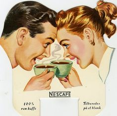 Vintage Advertising : The coffee date ~ ad by Nestlé. Vintage Advertising Campaign The coffee date ~ ad by Nestlé. Advertisement Description The coffee date ~ ad by Nestlé. Sharing is love ! 1950s Ads, Retro Ads, Vintage Advertisements, Vintage Ads, Vintage Prints, Vintage Pictures, Vintage Images, Retro Poster, Retro Housewife
