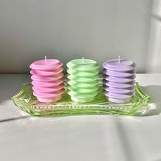 Our pastel spring candles, which double as a unique homeware item. Burn time of over 10 hours and each colour has a unique floral and fruity scent. Vegan Candles, Soy Wax Candles, Interior Design Candles, Sherbet Lemon, Pastel House, Pastel Decor, Unique Candles, Peach Blossoms, Candle Set