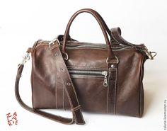 Купить Сумка мужская DarkChoco - коричневый, кожа натуральная, Кожаная сумка, сумка ручной работы