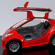 Designed around a hybrid space frame the Colibri employs gullwing' styled doors for weather protection and. Small Electric Cars, Electric Car Concept, Electric Power, Electric Scooter, Audi, Bmw, Subaru, Microcar, Car Mods