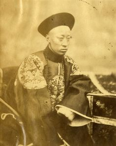 """Felix Beato - """"Prince Kung, Brother of the Emperor of China Signer of the Treaty."""""""