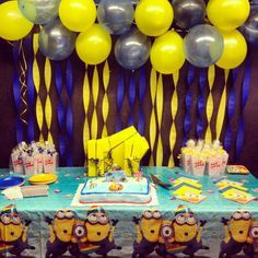diy minion party ideas | Despicable me party decorations