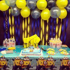diy minion party ideas | Despicable me party decorations