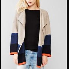 ISO!! Gap Colorblock Sweater Coat!! Looking for this! Tag me if someone has it please!! Sold out online GAP Jackets & Coats
