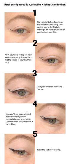 Cat Eyeliner Tutorial, Cat Eye Eyeliner, Hooded Eye Makeup Tutorial, Eyeliner Looks, Makeup For Hooded Eyelids, Hooded Eyes Eyeshadow, Make Up Hooded Eyes, Hooded Lids, Makeup Tutorials