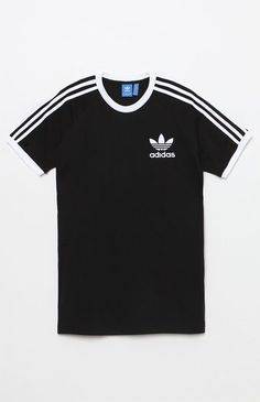 PacSun : adidas - California Black T-Shirt Camisa Nike, Addidas Shirts, Adidas Outfit, Black Adidas, Adidas Women, Shirt Designs, Cool Outfits, T Shirts For Women, Ringer Tee