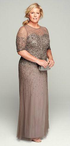 Beaded Illusion Gown (Plus Size). Svatební ŠatyRoztomilé ... f0cb159be4