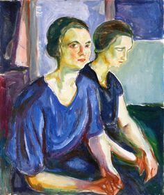 edvard munch(1863-1944), two women, seated, 1924-26. oil on canvas, 80 x 72 cm. munch-museet, oslo, norway http://www.the-athenaeum.org/art/detail.php?ID=91812