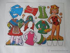 RECORTABLE MUÑECA ESTAMPAS DE ESPAÑA AÑOS 70 - 80 (Coleccionismo - Recortables - Muñecas)