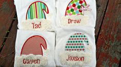 Christmas in July Boys / girls appliqued Christmas by MunskerRoo, $25.00