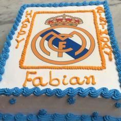 Real Madrid birthday cake. Visit us Facebook.com/marissa'scake or www.marissascake.com