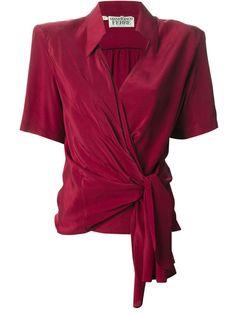 Gianfranco Ferre Vintage wrap blouse