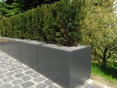 Buy Aluminum Box Garden Planters — The Worm that Turned - revitalising your outdoor space Balcony Design, Garden Design, Minimalist Garden, Large Planters, Terrace Garden, Garden Boxes, Container Plants, Planter Boxes, Artificial Plants
