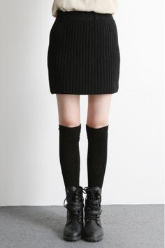 Filthy Magic — Winter Knit Mini Skirt - StyleSays