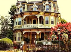 beautiful old Victorian house