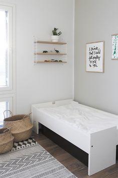 Lastenhuonetta on kiva sisustaa, koska siinä voi olla muita tiloja leikkisämpi ilme.Nukan huoneessa oli pitkään vain sänky ja lipasto, mutta hiljalleen olen saanut hankittua sinne jotain muutakin,…