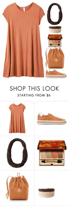 """""""Orange Dress"""" by gicreazioni ❤ liked on Polyvore featuring RVCA, Mr & Mrs Italy, Clarins and Mansur Gavriel"""