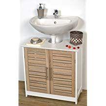 Evideco 9900306 Free Standing Non Pedestal Under Sink Vanity Cabinet Bath Storage Stockholm Kleine Badaufbewahrung