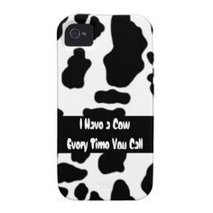 I Have a #Cow every time you call! #funny cow quote #iPhone case $46.95