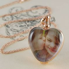 Silver Heart Double Sided Locket Necklace