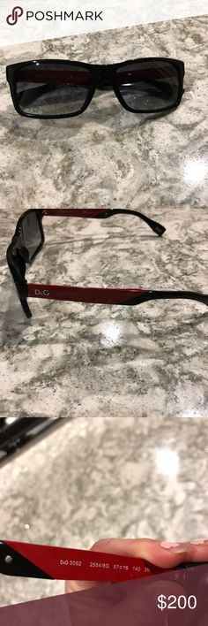 Men's Dolce and Gabbana sunglasses Men's Dolce and Gabbana sunglasses. The bright red and black are a nice stylish duo. No scratches no imperfections and does not come with a case. Selling for my brother! Dolce & Gabbana Accessories Glasses