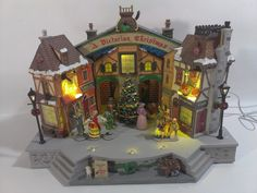 Lemax Victorian Christmas Carol Theater Stage Play Musical Lighted Sounds Music