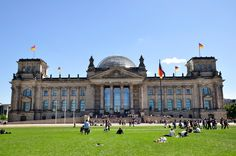 Berlin, Reichtstag - the Government of Germany right in the heart of Berlin and around the corner of the Brandenburger Tor  http://www.gomio.com/en/hostels/europe/germany/berlin/search.htm  #Travel #Germany #Berlin #Hostel