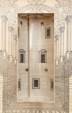 A Rare and Early Trumeau by Piero Fornasetti, Collaborating with Gio Ponti. H 7 ft. 3 in. W 31.5 in. D 15.94 in. $185,000