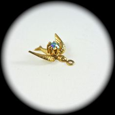 Antique Rhinestone and Gold Swallow,  I LOVE THIS Little Bird!!!!