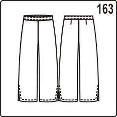 бесплатная выкройка женских летних брюк с шлицами в боковых швах