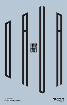 "Cover design: Utku Lomlu. (Dava, Turkish edition of ""The Trial,"" by Franz Kafka.) (CAN Publications, Istanbul, April 2017.)"