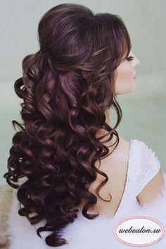 Stunning Half Up Half Down Wedding Hairstyles ❤ See more: http://www.weddingforward.com/half-up-half-down-wedding-hairstyles-ideas/ #wedding #bride