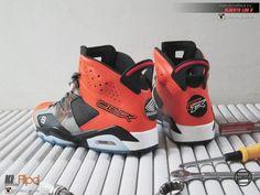 """Air Jordan 6 """"Honda CBR 600 X-Ray"""" Customs by Alberto Lou"""