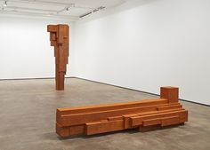 """Installation view of """"Antony Gormley: CONSTRUCT"""" at Sean Kelly, New York. Courtesy of photographer Jason Wyche and Sean Kelly, New York. New York Wallpaper, Wallpaper Magazine, Antony Gormley, New York Art, Art Archive, Le Corbusier, New Shows, Magazine Design, Installation Art"""
