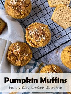 These healthy pumpkin muffins are made with almond flour, low carb, Paleo and easy to make. This gluten free muffin recipe is moist, flavorful and low in sugar - all you need to get in the fall spirit. #pumpkinmuffin #lowcarb #almondflour Paleo Pumpkin Muffins, Gluten Free Muffins, Muffin Recipes, Almond Flour, Low Carb, Healthy, Loaf Recipes, Health