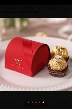 30pcs red elegant wedding gift box candy box wedding por Evanplus