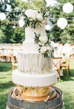 45 Beautiful Wedding Cakes The Best From Pinterest ❤ beautiful wedding cakes rustic elegant cake torreyfox #weddingforward #wedding #bride