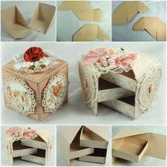 шкатулка своими руками из картона с крышкой