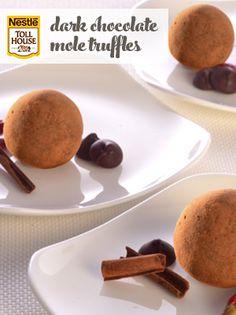 Dark Chocolate Mole Truffles