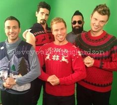 BSB - ugly christmas sweaters XD
