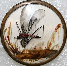 Habitat Button, French ca. 1775, glass. The Met.