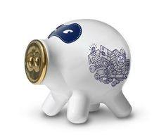 Pig Pocket White Ceramic designed by Robert Bronwasser made in Netherlands as part of Gifts and Occasion and Wedding and Home Accessories and Home Decor and Decorations tagged Dutch design - image 1 on CROWDYHOSUE Money Bank, Unique Home Decor, Home Decor Items, Decorative Accessories, Home Accessories, Savings Bank, Funky Design, This Little Piggy, Bebe